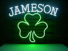 "New Jameson Shamrock Clover Irish Whiskey Beer Neon Light Sign 17""x14"""