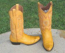 Cowboy Pretal Ostrich Wing Tip Boots Men'S 7'Ee