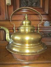 Original alter Wasserkessel für Kohleherd Handwerkskunst H29 cm Vintage
