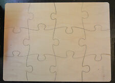Plain Wooden Puzzle 40 x 30 cm Blank Coster Wedding Tags Craft Decoupage Jigsaw