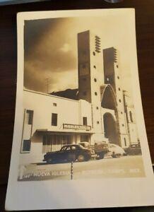 Mexico Nueva Inglesia Reynosa RPPC Muebles ABC Vintage Cars 1940's