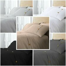 Hotel Quality Polycotton Easycare Waffle Duvet Cover Solid Quilt Set All Sizes