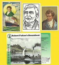 Robert Fulton's Steamboat Fab Card Collection Developed the Nautilus Submarine