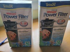 Whisper Internal (2)+ Filters 2-10 Gallons,In-Tank Filtration,Aquariums Air Pump