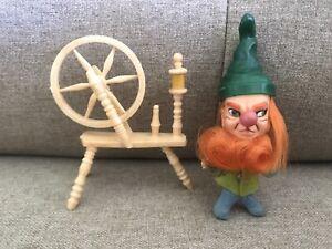 Vintage 1967 Hasbro Storykins Rumplestiltskin Doll & Spinning Wheel! WOW!