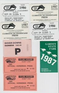 Vintage Lot of 7 1980's Garden State Park Atlantic City Horse Racing Press Pass