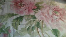 Sanderson ADELE cotton pink rose fabric remnant 2.44m x140 cm