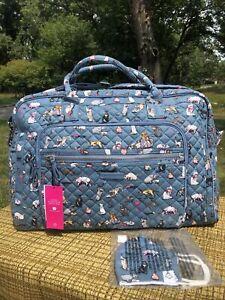 NWT~Vera Bradley~CATS MEOW 🐈Weekender Travel Bag W/ Mask 🐈⬛ MEOW WOW!