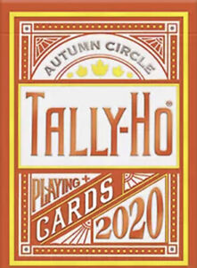 Tally-Ho Autumn Circle Back Playing Cards by USPCC New Sealed Deck
