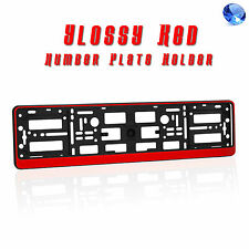RED EFFECT NUMBER PLATE HOLDER SURROUND FRAME FOR ANY CAR ABS GLOSSY FINISH R1