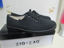 NIB ZIG ZAG BLACK WINOS CANVAS OXFORDS MEN SHOES LACES SIZES 6.5-13 AVAILABLE