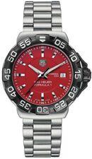 AUTHENTIC TAG HEUER FORMULA 1 WAH1112.BA0850 SWISS RED QUARTZ STEEL WATCH & BOX