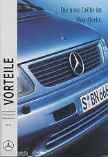 01290mb mercedes V-clase ventajas tamaño folleto 1996 6/96 brochure broschyr PK