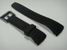 Genuine Men Seiko 26mm Black Rubber Strap Velatura Kinetic Watch Band  #4LJ7MB