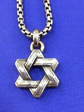 SCOTT KAY MEN'S STERLING SILVER STAR OF DAVID NECKLACE PENDANT, 20 INCHES