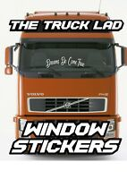 DREAMS DO COME TRUE WINDOW VINYL STICKER X1 SCANIA VOLVO DAF MERCEDES MAN