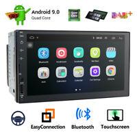 Android 9.0 double din Car Stereo Sat Nav GPS DAB+Bluetooth 4G DVB WiFi DVR SWC
