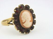 schöner alter Granat Ring Gold 333/- Gemme