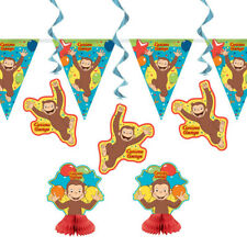 CURIOUS GEORGE Celebrate ROOM DECORATING KIT (7pc) ~ Birthday Party Supplies