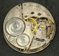Elgin Grade 313 Pocket Watch Movement 16s 15j Model 7 Openface Repair F5509