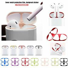 For AirPods Earphone Case Metal Sticker Dustproof Guard Protect Thin Iron Film