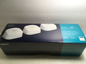 Amazon eero 6 Mesh Wi-Fi 6 System (3-pack) (Model: M110311)