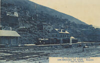 Postal. San Cristóbal de Tosas (Gerona). Estación. Ferrocarril Transpirenaico.