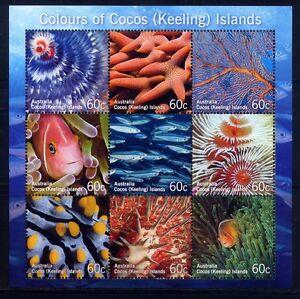 Kokos Inseln Cocos 2011 Fische Fishes Corals Korallen Pesci II Kleinbogen MNH