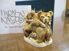 Harmony Kingdom Life's A Picnic Bears Uk Made Marble Resin Box Figurine Sgn