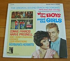 When The Boys Meet The Girls 1965 MGM LP Connie Francis Hermans Hermits Liberace
