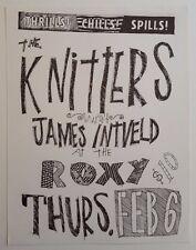 KNITTERS/JAMES INTVELD Original Gig Flyer 1986 X Blasters ROCKABILLY Flesheaters