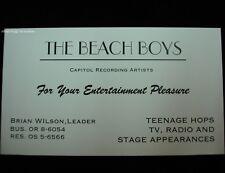 THE BEACH BOYS BRIAN WILSON BUSINESS CARD HOME PHONE # OF CARL & DENNIS RARE OOP