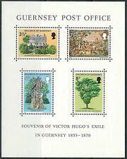 Guernsey - Exil Victor Hugos auf Guernsey Block 1 postfrisch 1975 Mi. 121-124