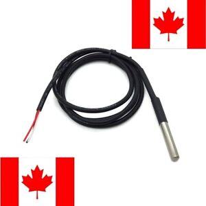 DS18B20 1-Wire Waterproof Digital Temperature Temp Thermometer Sensor Probe 1m