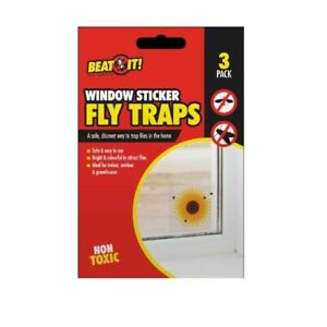 FLY INSECT KILLER FLORAL WINDOW INDOOR OUTDOOR TRAPS TRAP SUNFLOWER STICKER