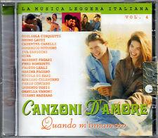CANZONI D'AMORE VOL.4 -CD NUOVO SIGIL CINQUETTI HERBERT PAGANI NAZZARO PAGANO