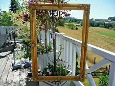 Großer Bilderrahmen Gemälde Barock Prunk Rahmen Holz Gold 104x74cm Antiklook NEU