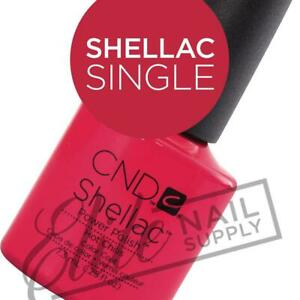 CND SHELLAC Color 7.3ml - Choose Any Single Colour + FREE Remover Wraps 10ct