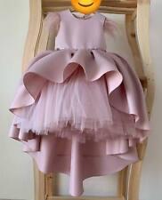 Flower Girl Dress Birthday Kid Children Puffy Dusty Pink High Full Dress
