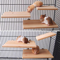 Wooden Parrot Bird Cage Perches Stand Platform Pet Parakeet Budgie Rat Toys New