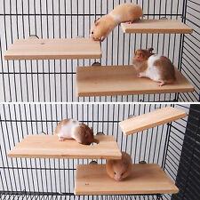 Wooden Parrot Bird Cage Perches Stand Platform Pet Parakeet Budgie Rat Toys New