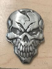 MK BARZ AND BULLION 3 TR/OZ ANGRY SKULL BAR .999 Fine Silver