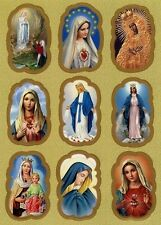 Hl. Maria Mutter Gottes Jesus Religiöse Aufkleber 9 Religious Stickers AKL 1015
