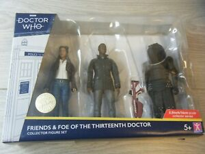 NEW SEALED DOCTOR WHO FRIENDS&FOE OF THE THIRTEENTH DOCTOR 3 FIGURE SET B+M