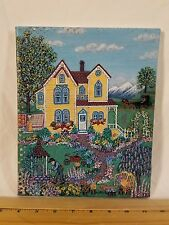 """Jean Paige Signed Artist Proof 3/35 """"The Yellow Cottage"""" Giclee Print on Canvas!"""