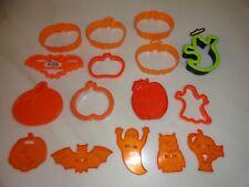 Vintage Unused Orange Plastic Halloween Cookie Cutters in Original Packaging by Amscan Hong Kong