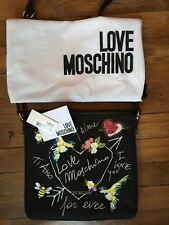 $249 NWT LOVE MOSCHINO Embroidered Cross-body Purse w/ Original Tags & Dust-bag