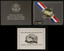 1991-S Proof Half Dollar - Mount Rushmore Anniversary - Box and COA
