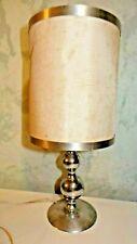 ancienne lampe en metal argenté
