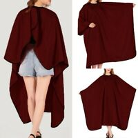 Hair Cutting Cape Salon Haircut Red Hairdressing Gown Barber Cloth Waterproof